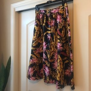 Mango printed button-front midi skirt